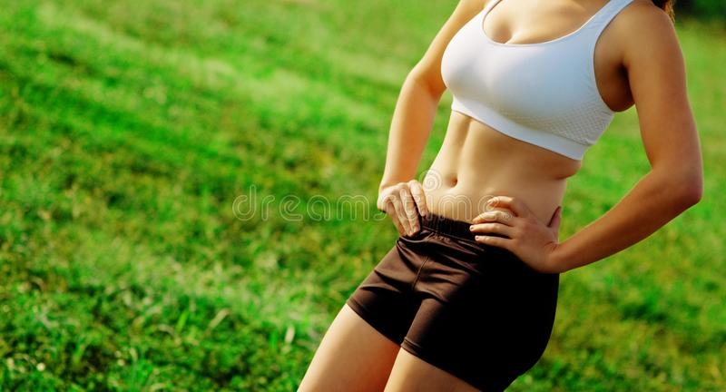 Beautiful Woman Runner royalty free stock images