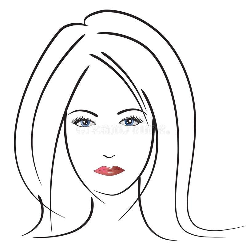 Download Beautiful Woman's face stock vector. Image of beautiful - 14854855