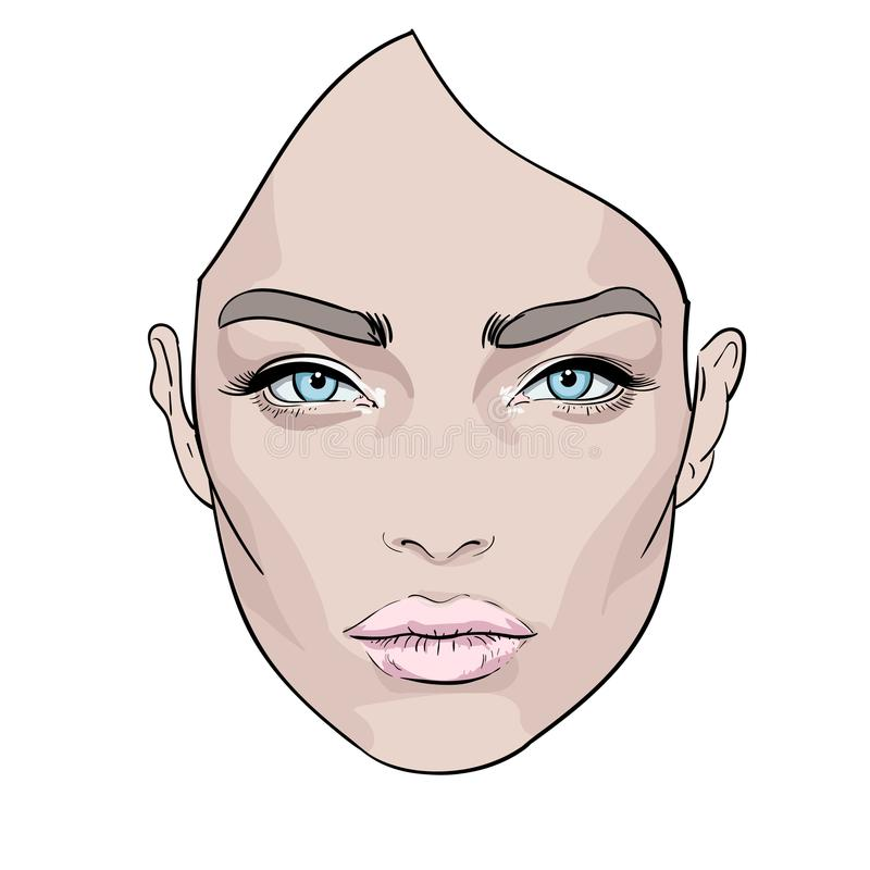 A beautiful woman s face. Creative. Fashion Portrait. Vector. vector illustration