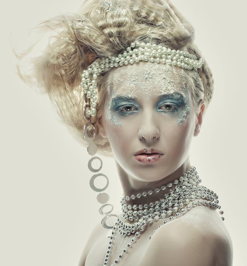 Beautiful Woman's Face stock photos