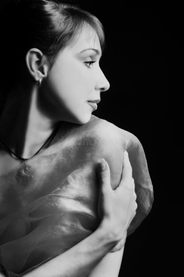 Download Beautiful woman's profile stock photo. Image of bright - 13599418