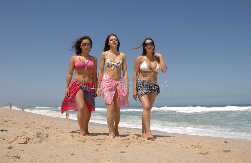 Download Beautiful Woman´s Walking On The Beach Royalty Free Stock Image - Image: 10388226