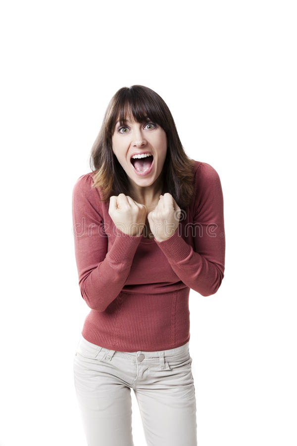Download Beautiful woman screaming stock photo. Image of posing - 22453890