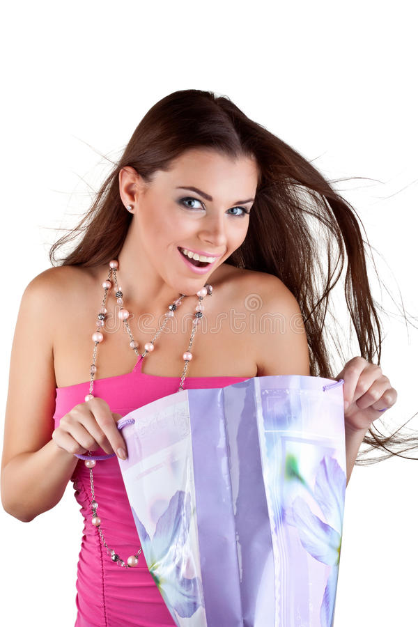 Download Beautiful Woman With Shopping Bags Stock Photo - Image of positive, shopper: 22006298