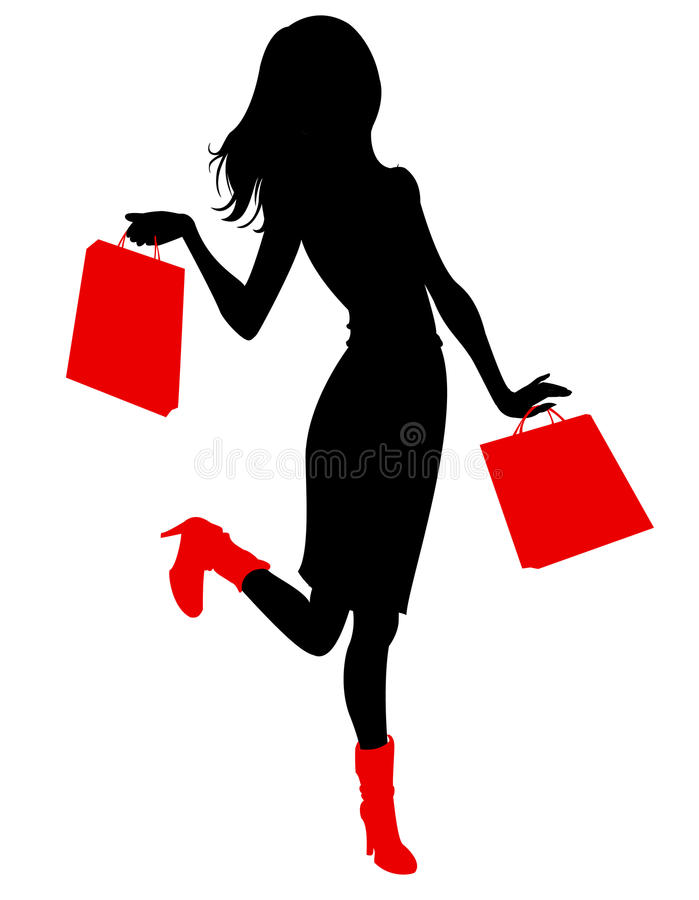 Beautiful woman silhouette vector illustration