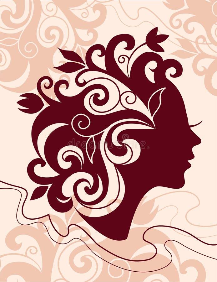 Download Beautiful woman silhouette stock illustration. Illustration of modern - 13870514