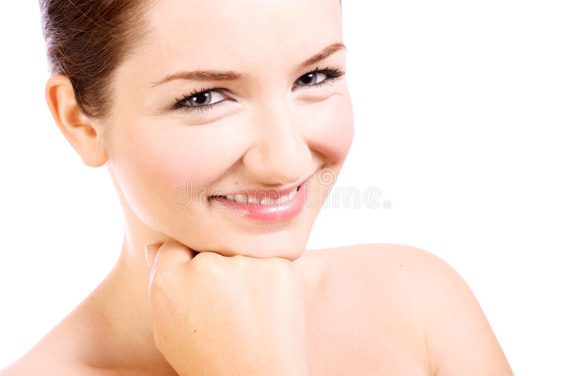 Download Beautiful woman smiling stock image. Image of isolated - 10237571