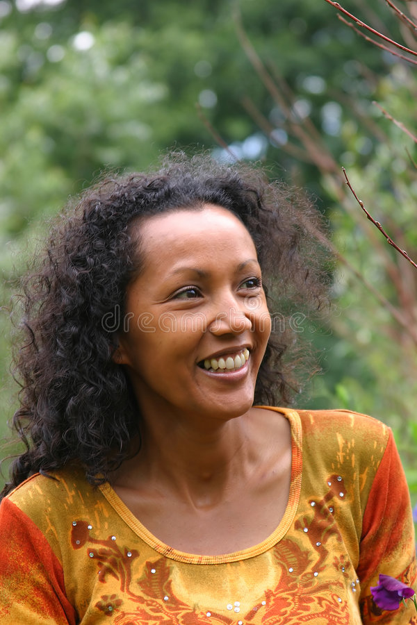 Download Beautiful woman smiling stock image. Image of enjoying - 166407