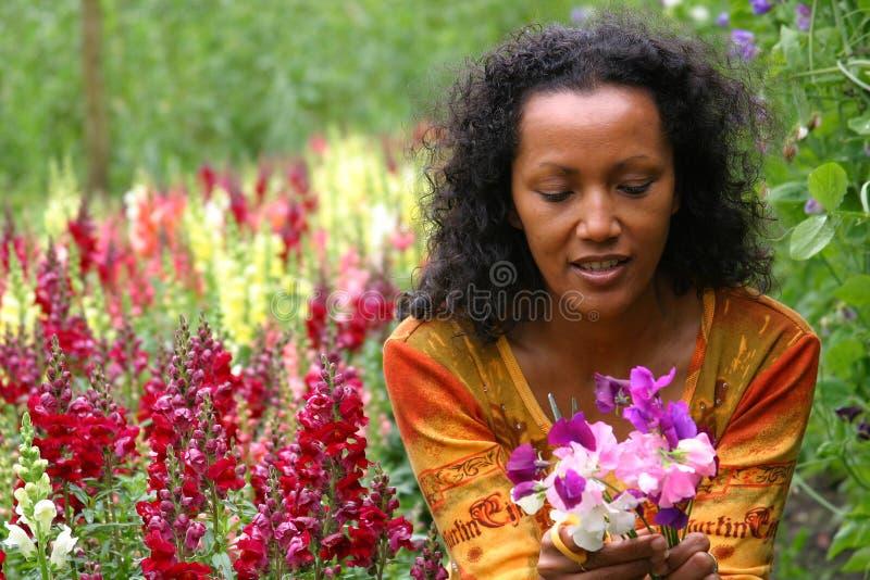 Beautiful woman smiling stock image