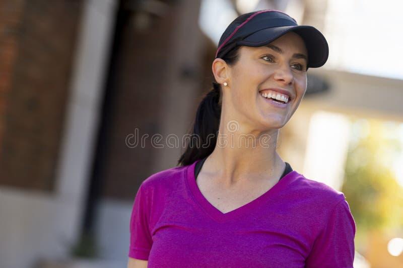 Beautiful Woman Smiling After Workout royalty free stock photos