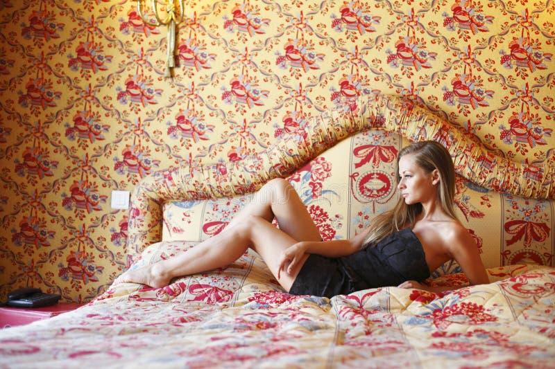 Download Beautiful Woman On A Sofa Stock Photo - Image: 33330320