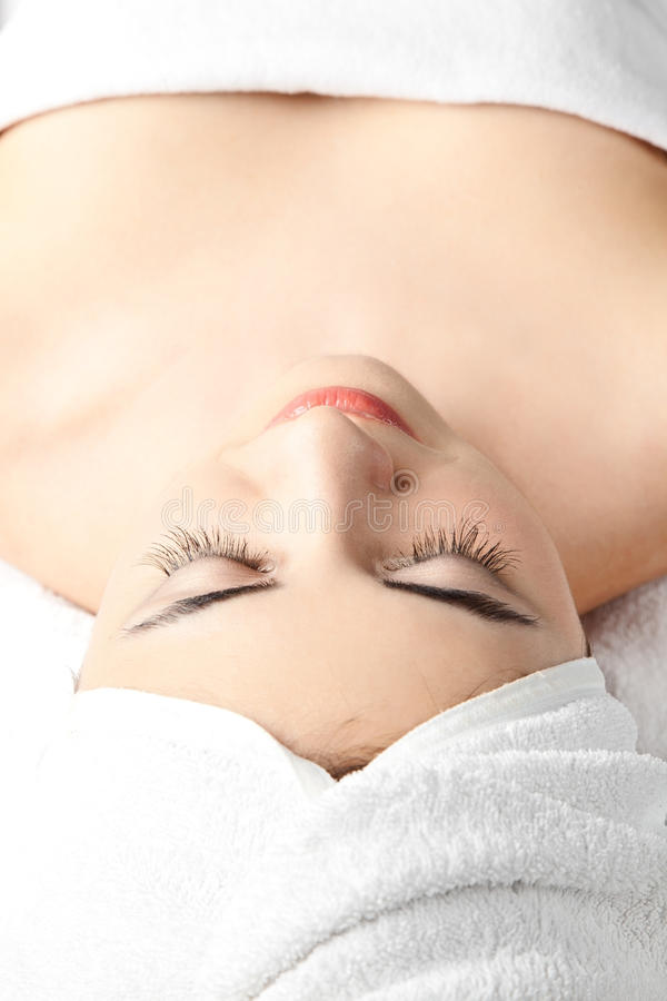 Beautiful woman in spa royalty free stock image