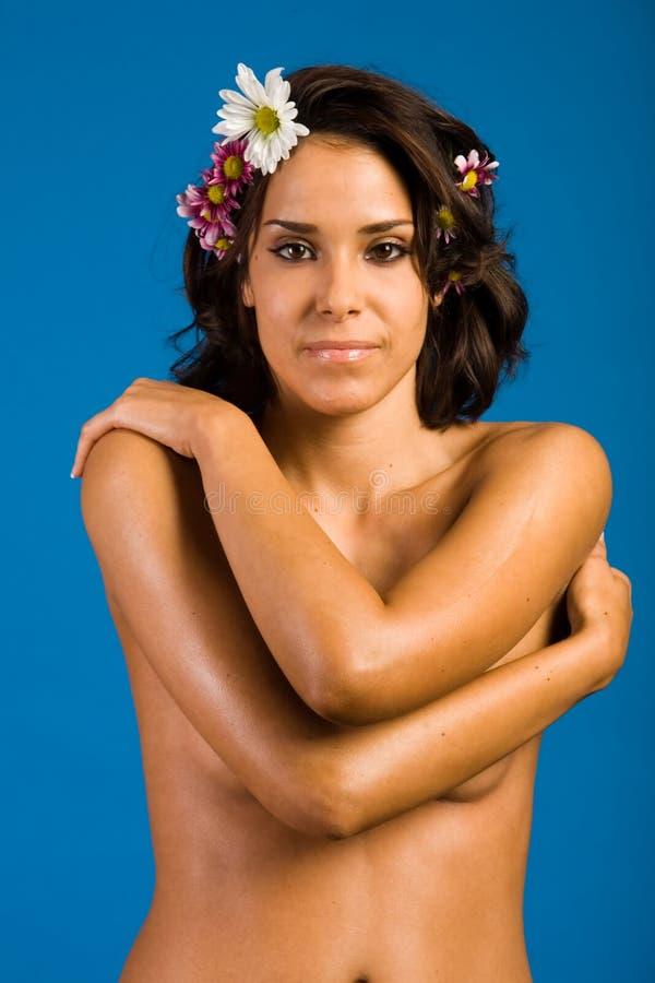 Beautiful woman in spa royalty free stock photo