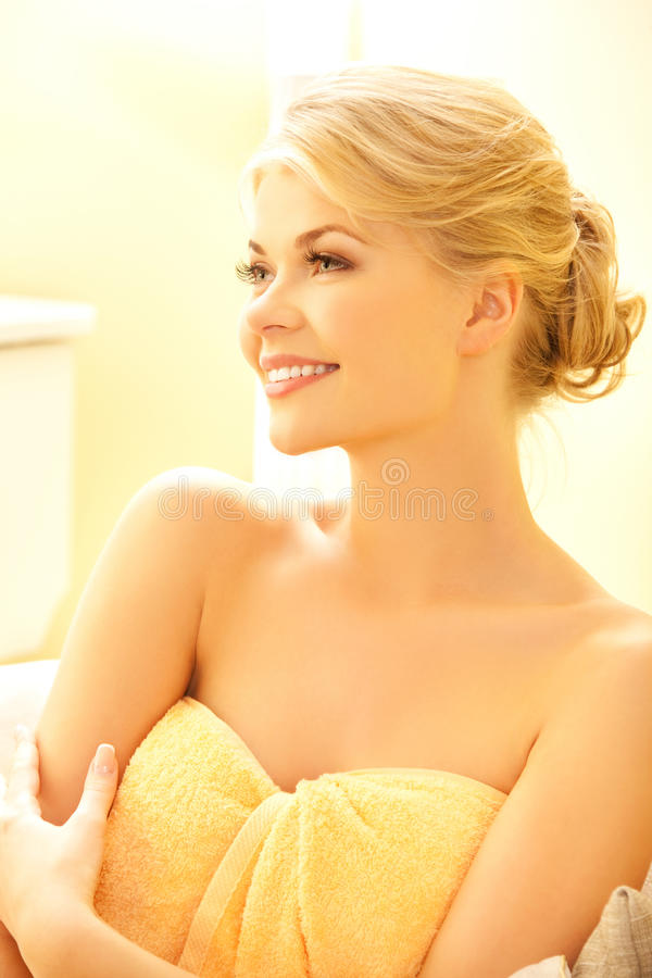 Download Beautiful Woman In Spa Salon Stock Photo - Image of pretty, clean: 39514960