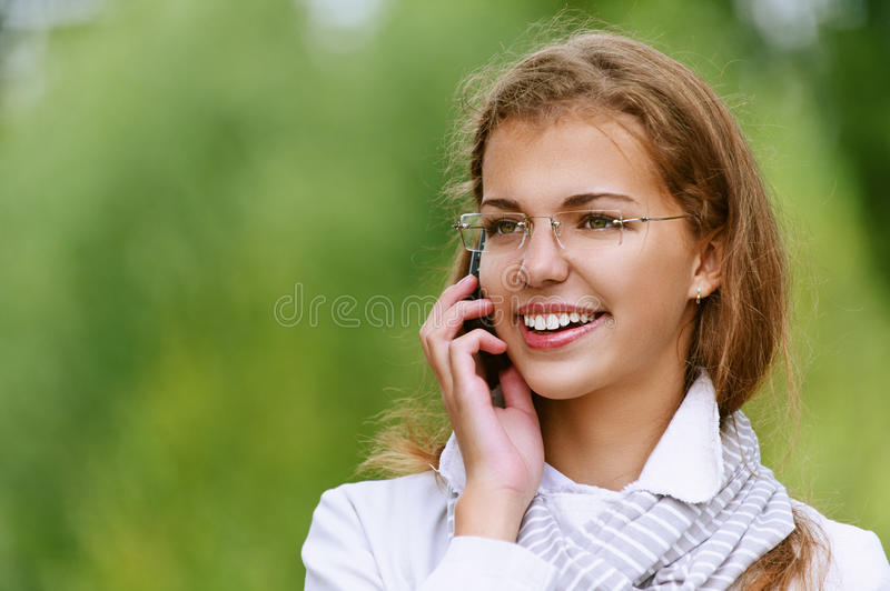 Download Beautiful Woman Talking On Cell Stock Image - Image: 26980521