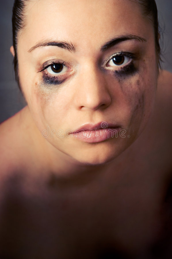 The Beautiful Woman In Tears Royalty Free Stock Images
