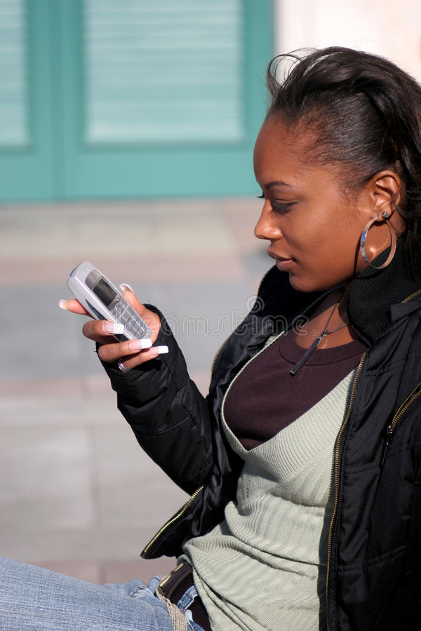 Beautiful Woman Texting royalty free stock photos
