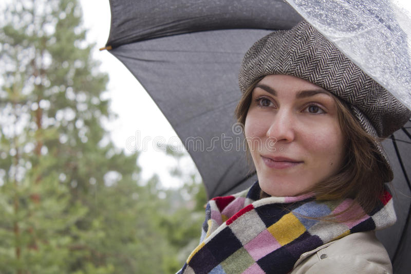 Download Beautiful Woman With Umbrella Stock Image - Image: 24476941