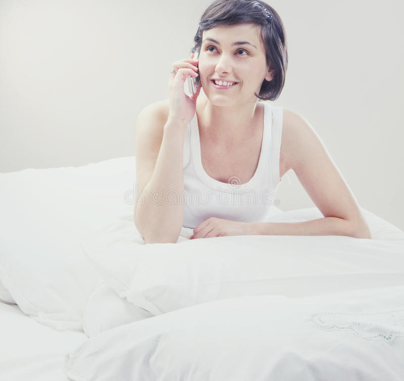 Download Beautiful Woman Using Her Cell Phone Stock Photo - Image: 20952548