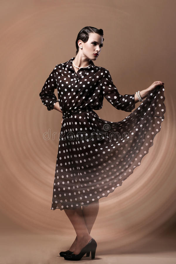 Download Beautiful Woman In Vintage Image Stock Photo - Image: 25688336