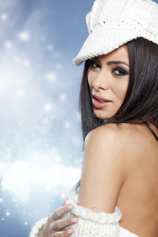 Download Beautiful Woman In Warm Clothing Stock Image - Image: 28105297