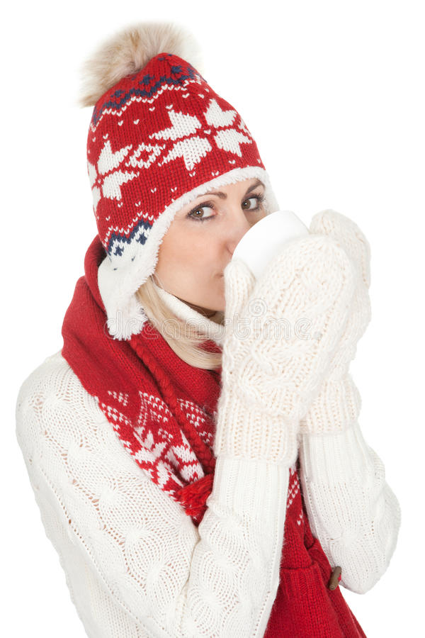 Beautiful Woman In Warm Winter Clothing Stock Images