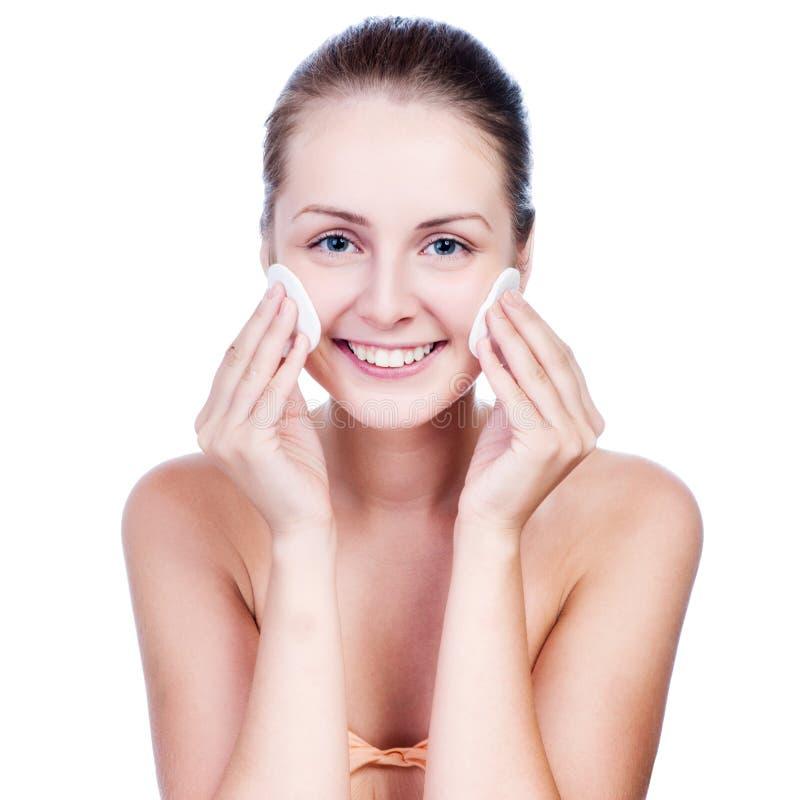 Free Beautiful Woman Washing Her Face Stock Photos - 37754823