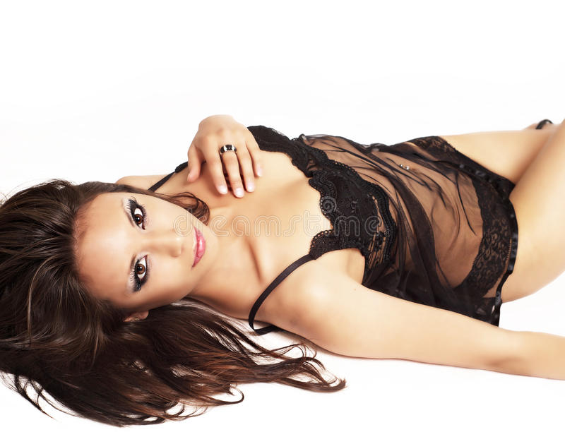 Download Beautiful Woman Wearing Black Lingerie Royalty Free Stock Photography - Image: 19449607