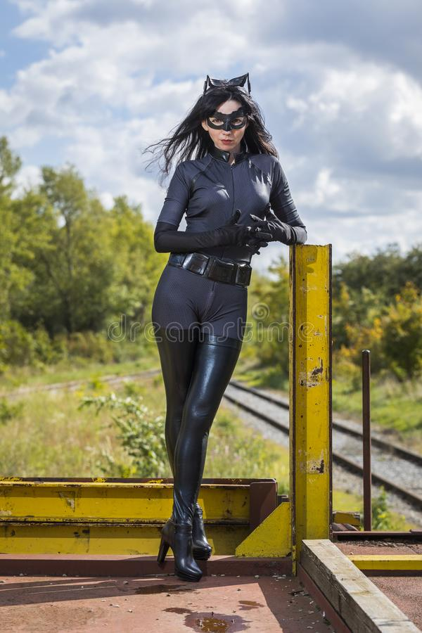 Download Beautiful Woman Wearing Catwoman Costume Stock Image - Image of cosplay nature 101723625 & Beautiful Woman Wearing Catwoman Costume Stock Image - Image of ...