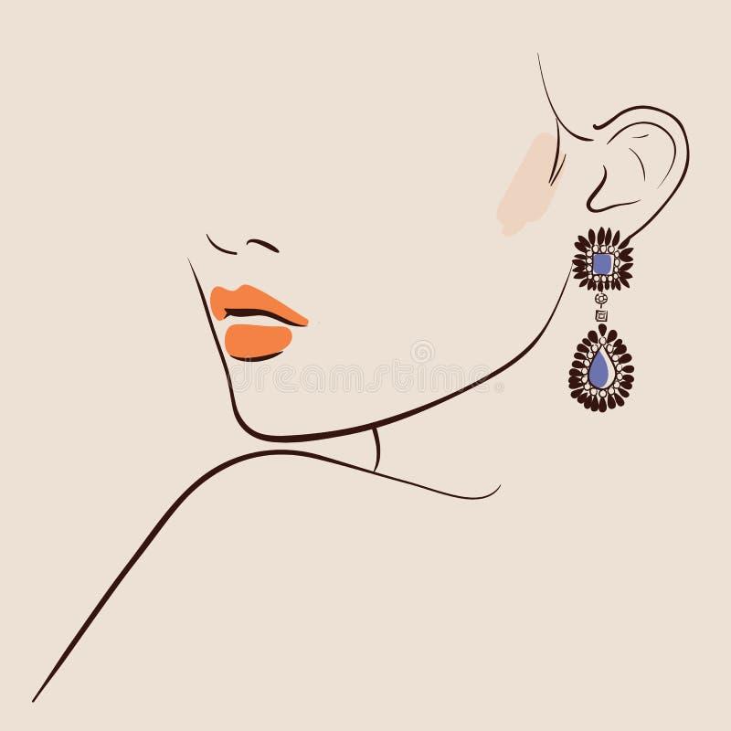 Free Beautiful Woman Wearing Earrings Royalty Free Stock Photo - 86084475