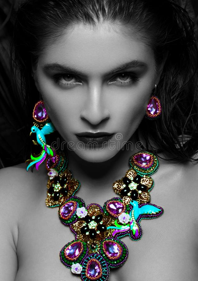 Free Beautiful Woman Wearing Exotic Luxury Jewelry Royalty Free Stock Photo - 109626205