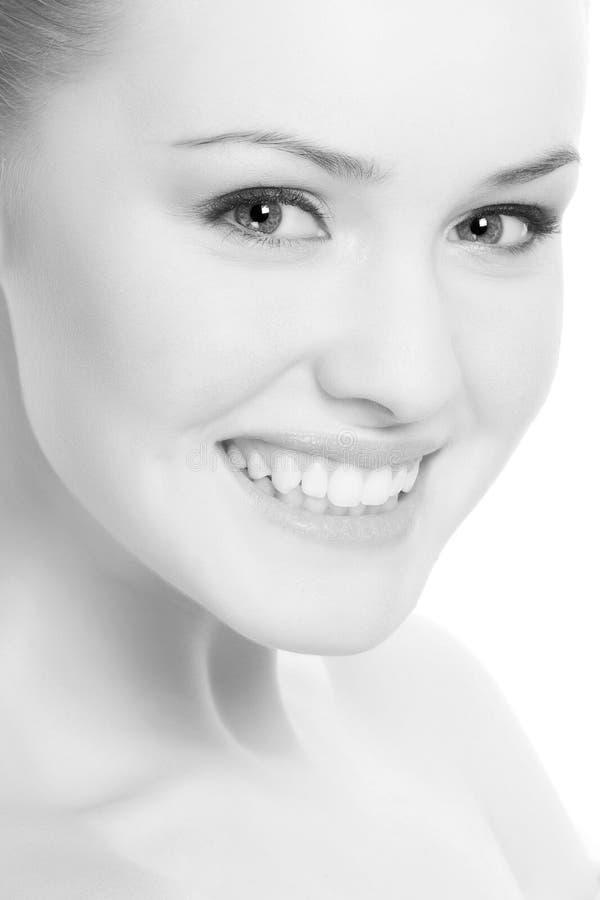 Beautiful woman on white royalty free stock image