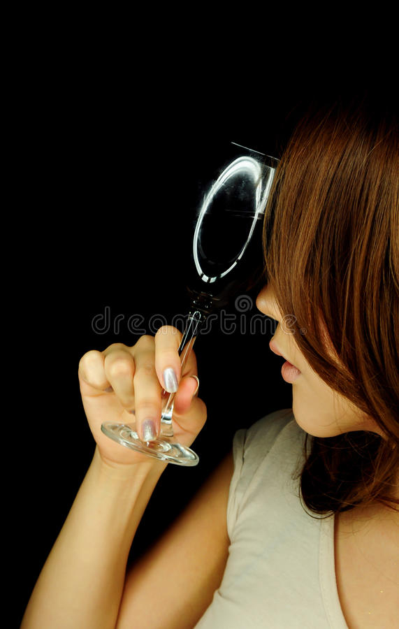 Download Beautiful Woman With Wine Glass Stock Image - Image: 25399325