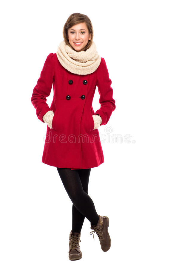 Beautiful Woman In Winter Coat Royalty Free Stock Images