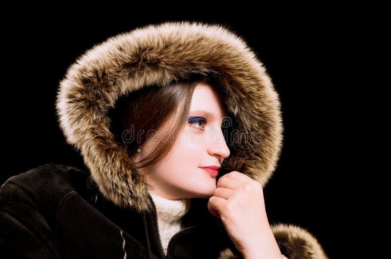 Download Beautiful Woman In Winter Fur Coat Stock Image - Image: 22880783