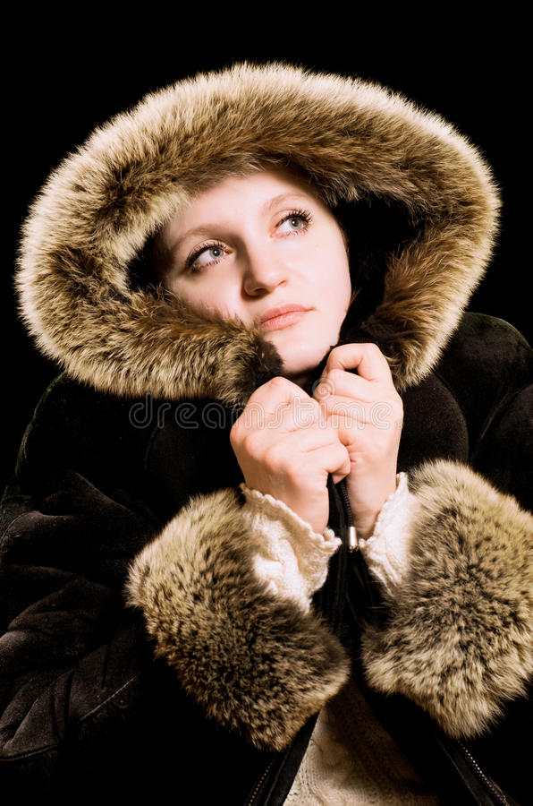 Download Beautiful Woman In Winter Fur Coat Stock Image - Image of look, female: 22914321