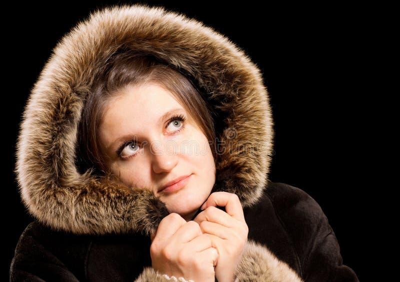 Download Beautiful Woman In Winter Fur Coat Stock Image - Image: 23282903