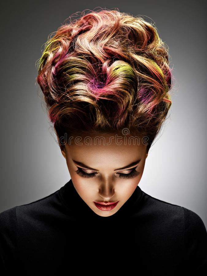 Free Beautiful Woman With A Stylish Hairstyle Stock Images - 166497774