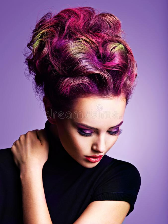 Free Beautiful Woman With A Stylish Hairstyle Royalty Free Stock Photography - 166497947