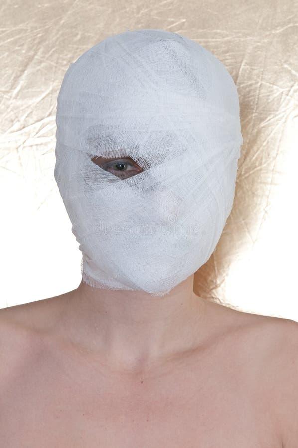 Free Beautiful Woman With Bandage Royalty Free Stock Image - 15630096
