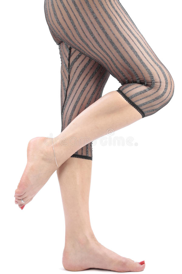 Free Beautiful Woman With Leggins Over White Royalty Free Stock Photos - 11534128