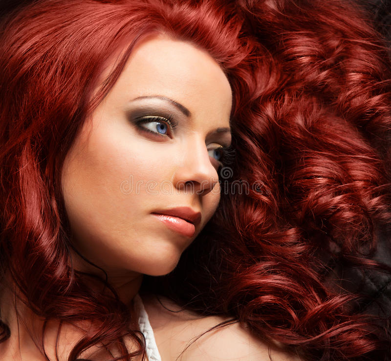 Free Beautiful Woman With Red Hair Stock Photos - 23284583
