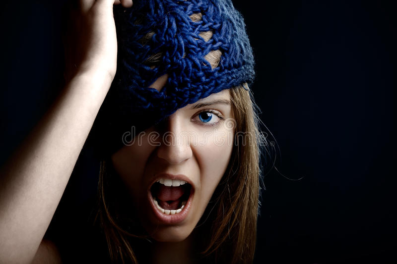 Download Beautiful woman yelling stock image. Image of isolated - 9929147
