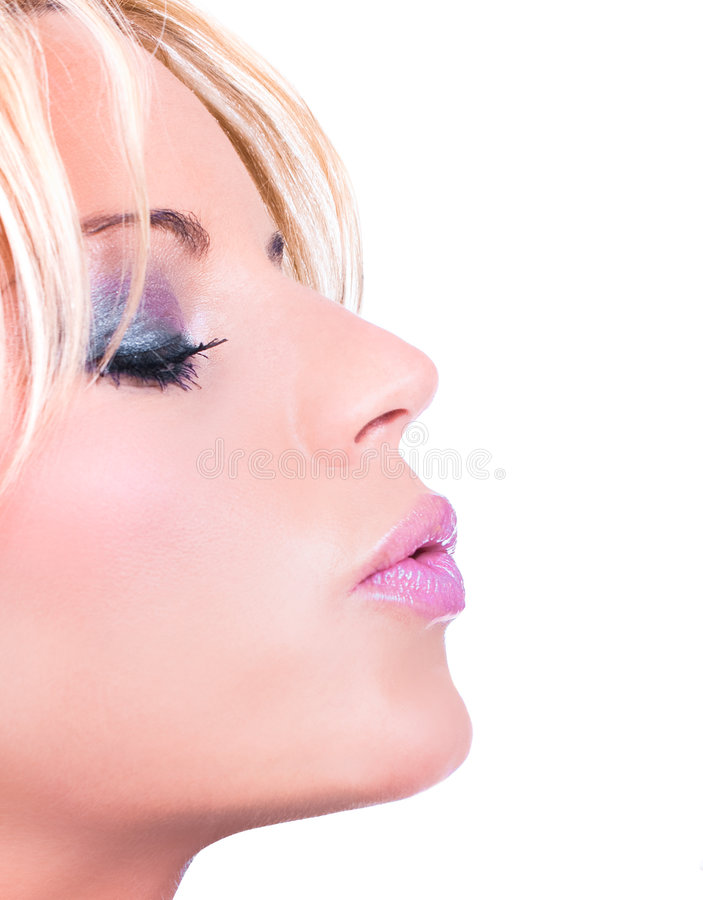 Download Beautiful Womanl Blowing A Kiss Stock Photo - Image: 9349306