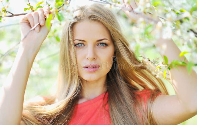 Beautiful womanl face - closeup. Portrait royalty free stock images