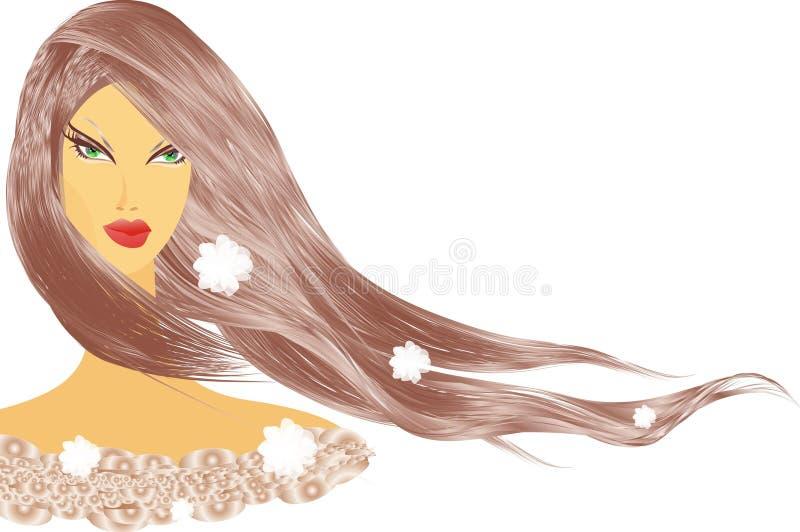 Beautiful women stock illustration