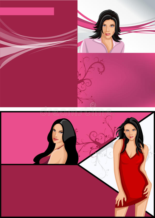 Download Beautiful women stock vector. Illustration of background - 28189001