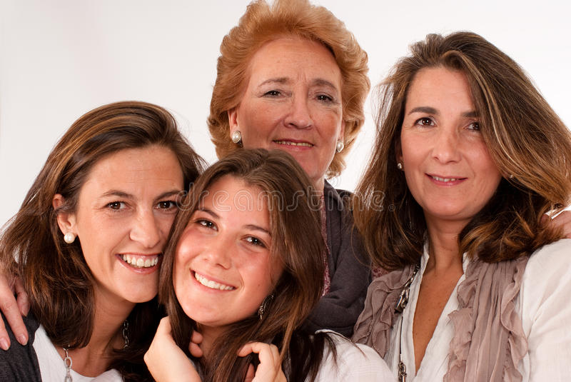 Beautiful women ages stock photography