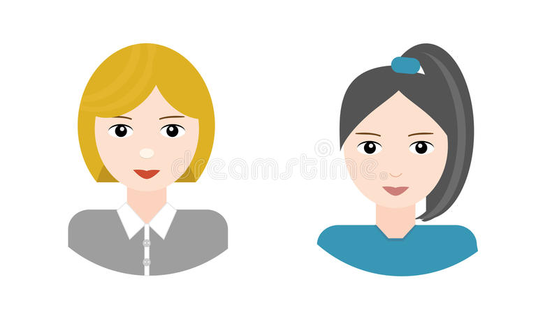 Beautiful women, characters stock images