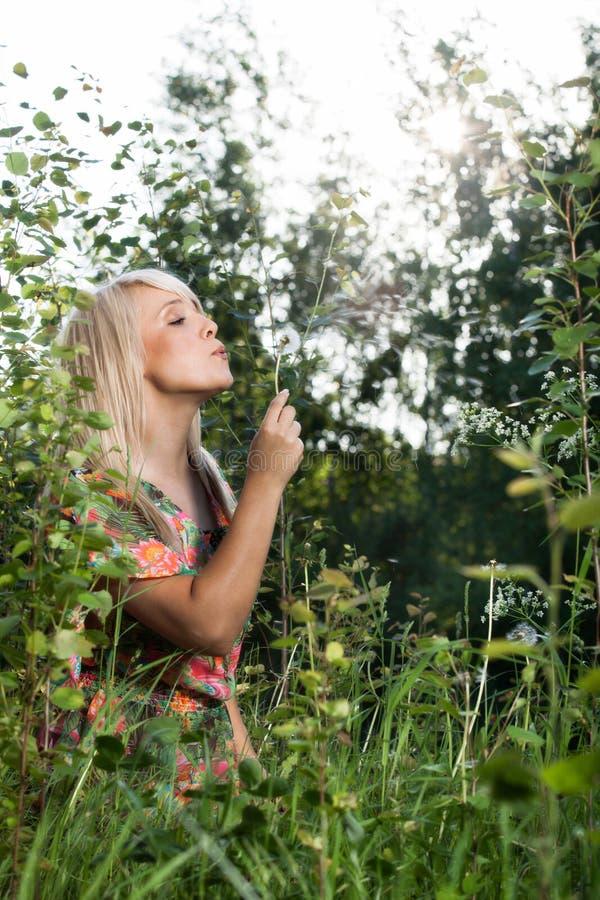 Download Beautiful women in plants stock photo. Image of beautiful - 31033470
